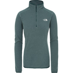 The North Face 100 Glacier Sweat-shirt avec Fermeture éclair 1/4 Femme, ponderosa green/trellis green stripe